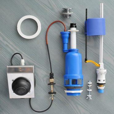 Фото 3 - Система смыва для туалета с педальным приводом, нижний подвод.