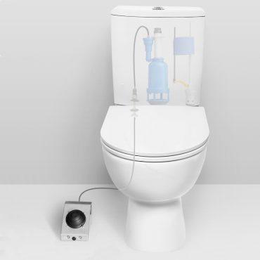 Фото 2 - Система смыва для туалета с педальным приводом, нижний подвод.