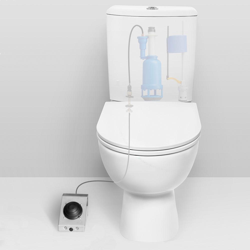 Фото 1 - Система смыва для туалета с педальным приводом, нижний подвод.