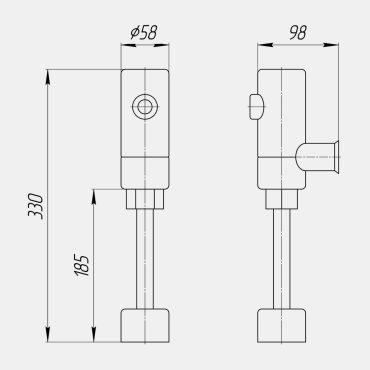 Фото 3 - Система сенсорная  для писсуара.